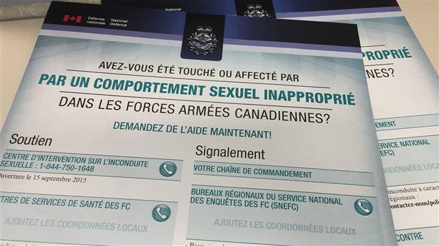 Document du Centre d'intervention contre l'inconduite sexuelle des Forces armées canadiennes