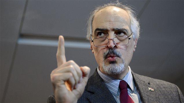 La délégation du régime syrien à Damas est dirigée par l'ambassadeur du pays à l'ONU, Bachar Al-Jaafari.