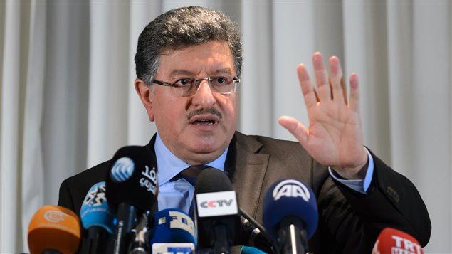 Le porte-parole du HCN, Salem Al-Meslet, a rencontré la presse dimanche.