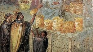 Fresque représentant une distribution de pain