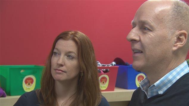 Kim Marchessault, directrice de l'école Vision Lac-Beauport et Richard Dumais, président du réseau des écoles Vision.