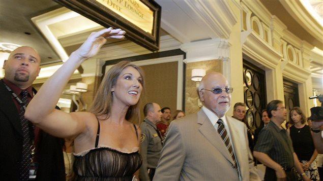 Céline Dion et René Angélil au Caesars Palace en 2005