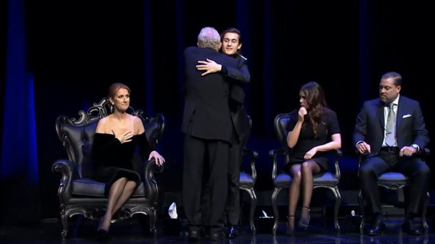 René-Charles Angélil et Céline Dion assistaient à la soirée hommage
