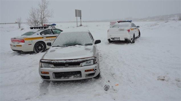 Les voitures impliquées dans l'accident