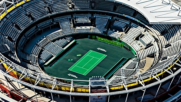 Le stade de tennis à Barra