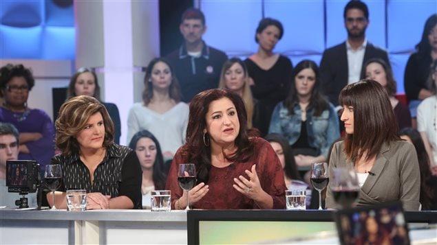 Pascale Philibert, Maria Mourani et Sandra Nolet