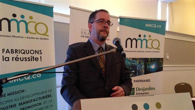 Le président et chef de la direction de Nemaska Lithium Guy Bourassa a présenté son projet aux membres de la MMCQ à Trois-Rivières