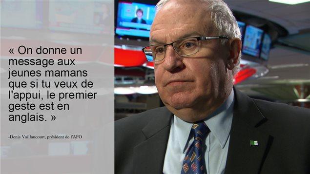 Le président de l'AFO, Denis Vaillancourt.