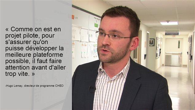 Le directeur de programme au CHEO, Hugo Lemay.