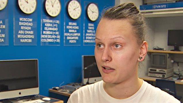 Jessica Fedigan, une étudiante en journalisme au BCIT.