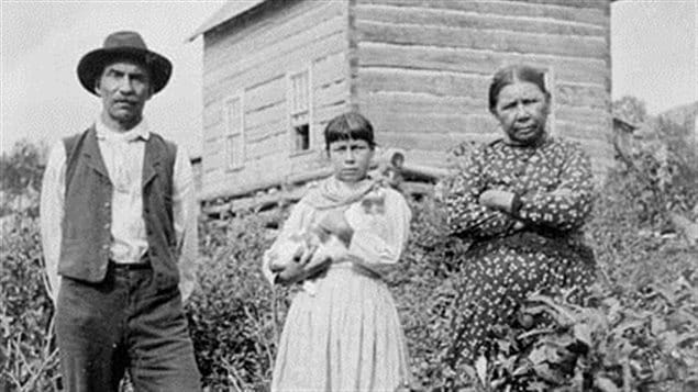 Stephen Lafricain, une de ses filles et sa femme, 21 août 1896