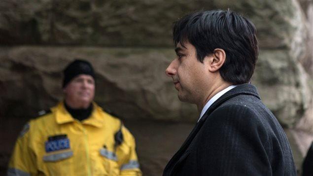 Jian Ghomeshi à son arrivée en cour le 8 février à Toronto