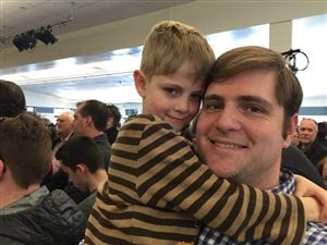 Bill Gardner et son fils.