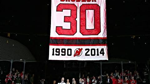 Les Devils du New Jersey ont retiré le numéro 30 de Martin Brodeur