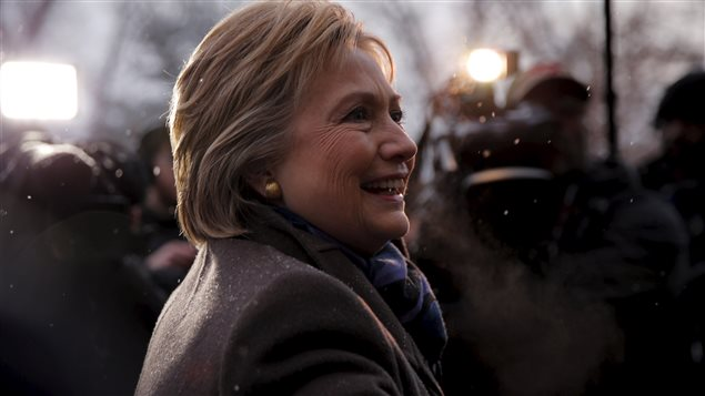 Hillary Clinton en campagne au New-Hampshire