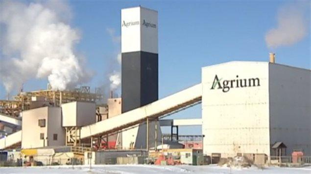 Mine de potasse d'Agrium à Vanscoy, en février 2014