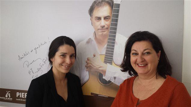 Nathalie Grenier, coordonnatrice, et Louis Vézina, vice-présidente du Festival des guitares du monde en Abitibi-Témiscamingue
