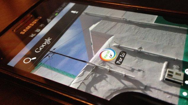 La nouvelle application pour téléphones intelligents Par ici