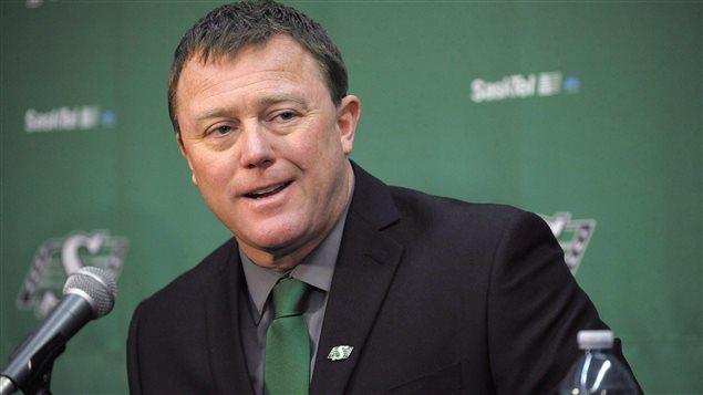 L'entraîneur-chef des Roughriders Chris Jones.