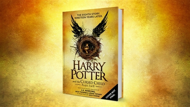 La page couverture du livre « Harry Potter and the Cursed Child »