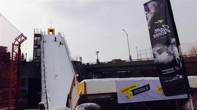 La nouvelle structure du big air mesure 39 mètres de hauteur et 91 mètres de longueur.