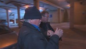 Renald Côté conduit au Palais de justice de Sherbrooke