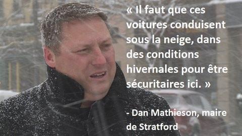 Le maire de Stratford, Dan Mathieson