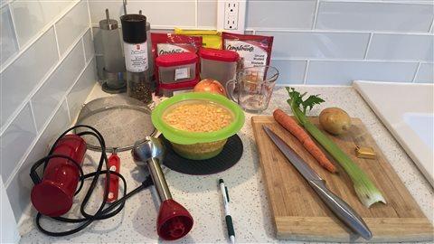 Les ingrédients de la soupe
