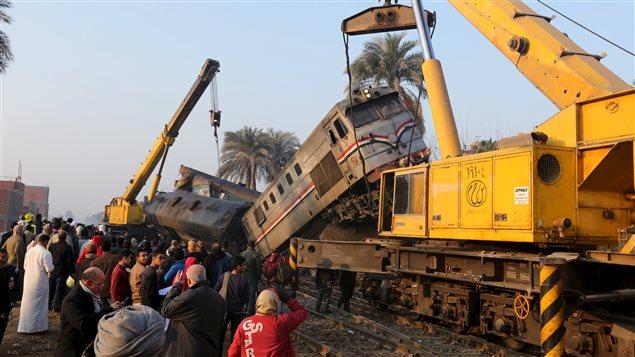 Les accidents ferroviaires sont fréquents en Égypte en raison du mauvais entretien des infrastructures.