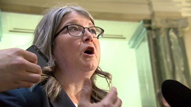 Tracy Zambory, présidente du syndicat des infirmières et de la Saskatchewan.