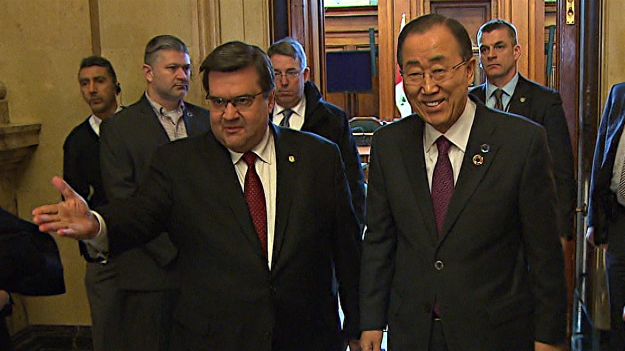 Denis Coderre et Ban Ki-moon