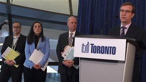 Le chef des services municipaux de Toronto, Peter Wallace a donné les détails d'un plan de contingence