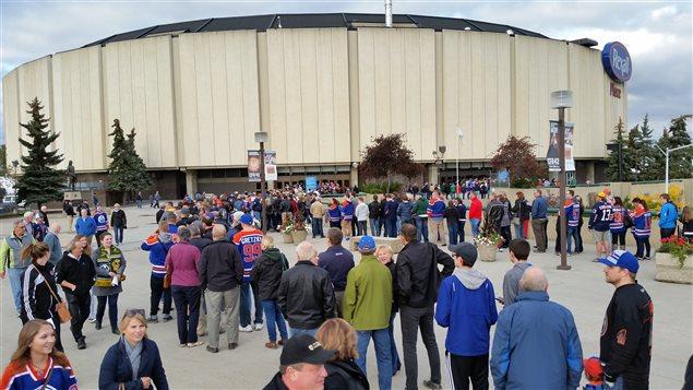 La place Rexall, domicile des Oilers d'Edmonton entre 1974 et 2016.