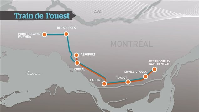 Carte potentielle du train de l'ouest