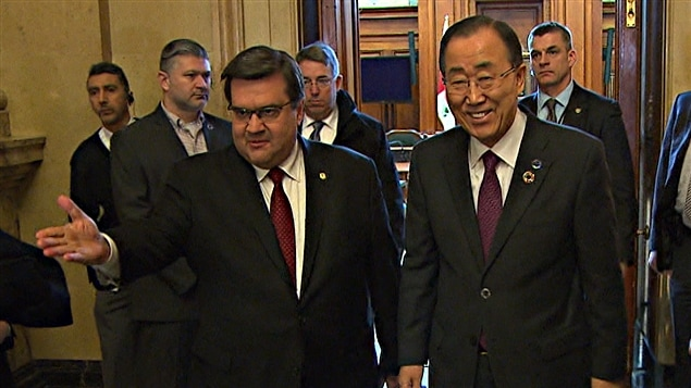 Denis Coderre et Ban Ki-moon