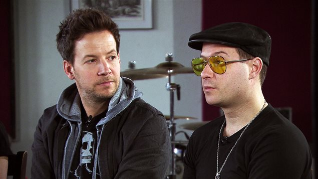 Pierre Bouvier et David Desrosiers, de Simple Plan
