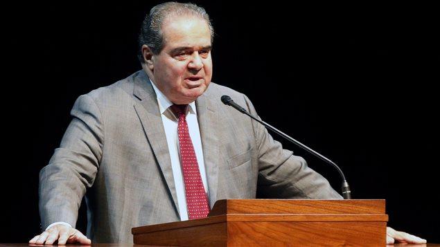 Le juge Antonin Scalia en octobre 2015