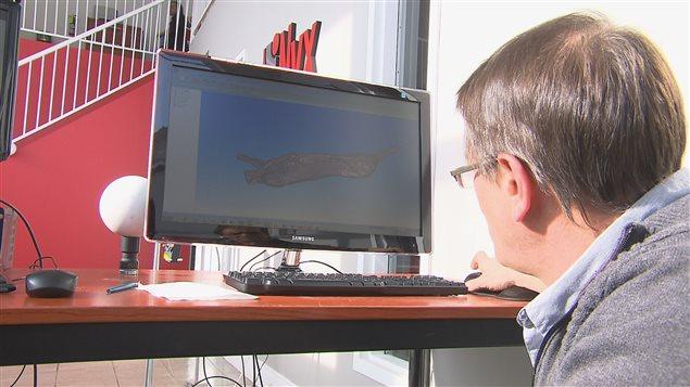 Les inventeurs peuvent visualiser toutes les composantes de la carcasse sur un ordinateur après la numérisation