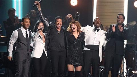 John Legend, Demi Lovato, Lionel Richie, Meghan Trainor, Tyrese et Luke Bryan