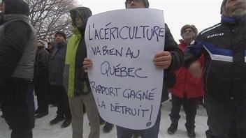 De nombreux acériculteurs sont en désaccord avec les recommandations du rapport Gagné.