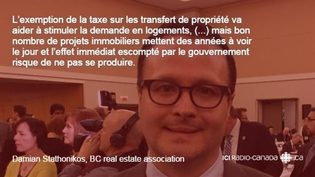 Citation de Damian Stathonikos du BC Real Estate Association