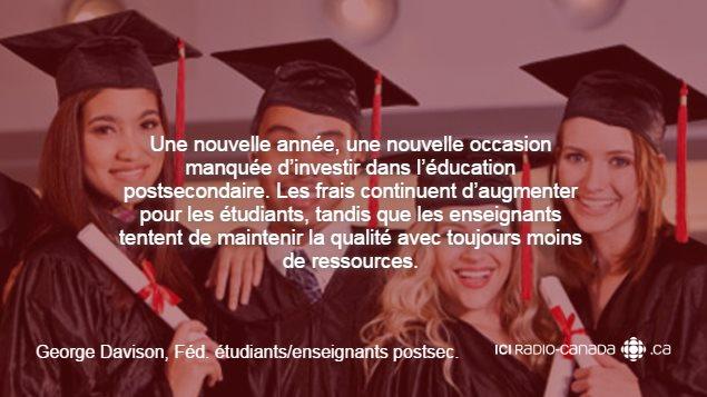 Citation de George Davison de la fédération des étudiants et enseignants post-secondaires de la Colombie-Britannique