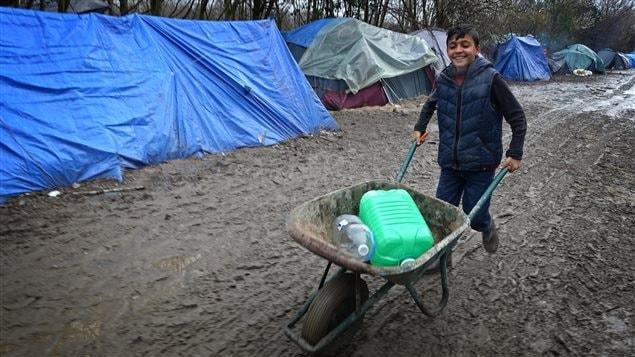 Le camp de réfugiés de Grande-Synthe, dans le nord de la France