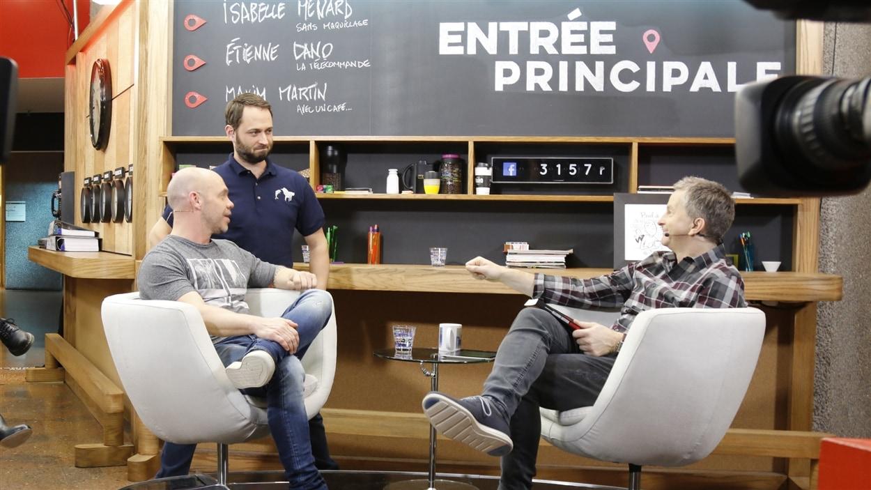 Maxim Martin, Étienne Dano et André Robitaille