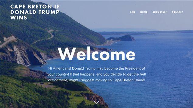 Le site web «Le Cap-Breton, si DonaldTrump l'emporte»