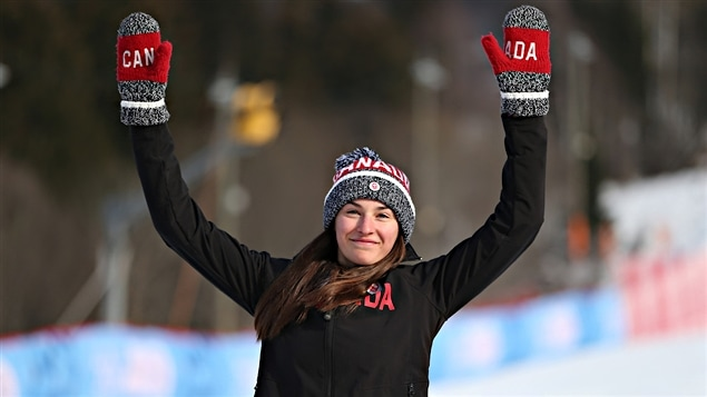 Ali Nullmeyer, médaillée d'argent à Lillehammer