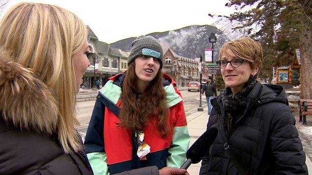 Frances Boutin et sa famille ont choisi cette année de passer leurs vacances d'hiver au Canada.