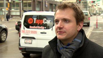 Pascal Ryffel, le porte-parole de l'entreprise albertaine de covoiturage TappCar.