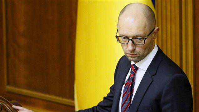 Le premier ministre Arseni Iatseniouk (archives)