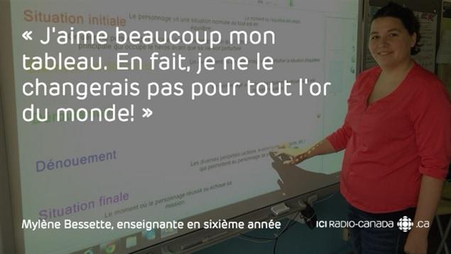 Mylène Bessette, enseignante en sixième année